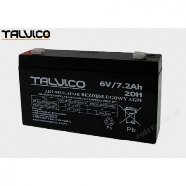 Battery Talvico AGM 6V, 7,2Ah