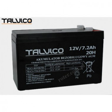 Battery Talvico AGM 12V, 7,2Ah