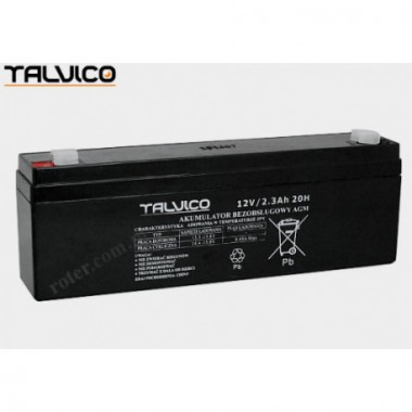 Battery Talvico AGM 12V, 2,3Ah Type B