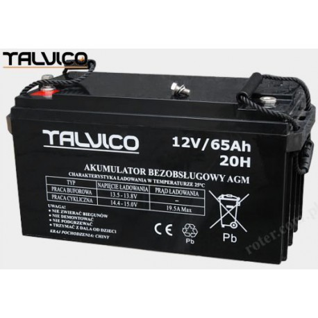 battery talvico agm 12v 65ah. Black Bedroom Furniture Sets. Home Design Ideas